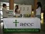 Mesa de la Asociacion Española contra el Cancer (AECC)